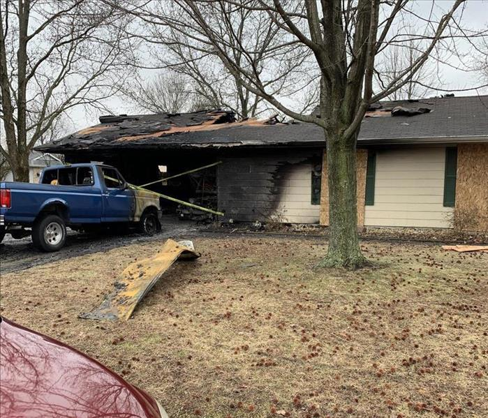 Local house fire that destroyed half of this customer's home.