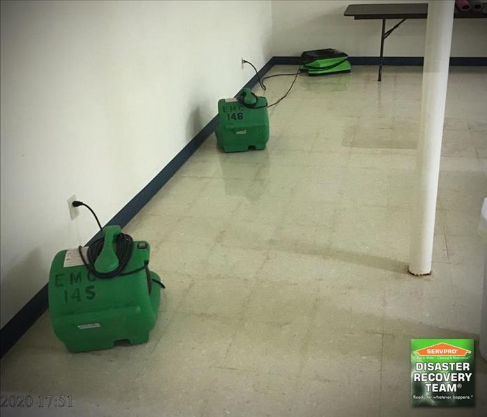 the same commercial building after cleanup and sanitizing from SERVPRO