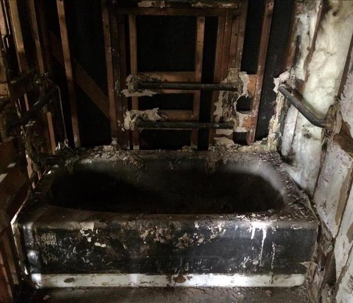 Bathroom House Fire  Before