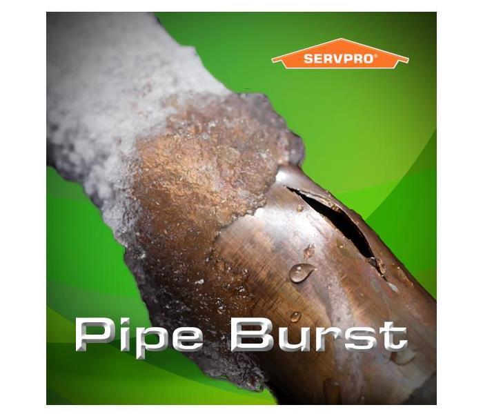 A frozen pipe that burst from the cold